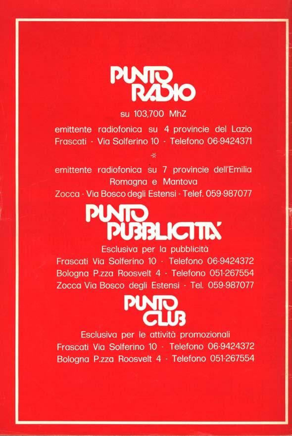 Punto Radio mensile - Storia della radiotelevisione italiana. La magnifica storia di Punto Radio (la radio di Vasco Rossi)