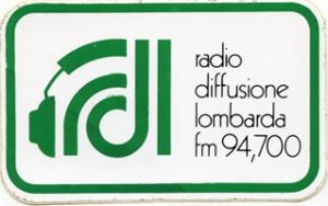 RDL RADIO DIFFUSIONE LOMBARDA 300x188 - Storia della radiotelevisione italiana. Anni '80, Milano da bere, Segnale Italia: simboli primordiali di una rete radiofonica