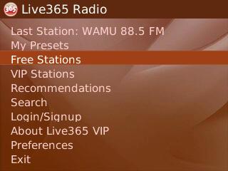 blackberry 1577 n2 - Radio digitale: ascoltare le emittenti sui palmari BlackBerry RIM con Live365