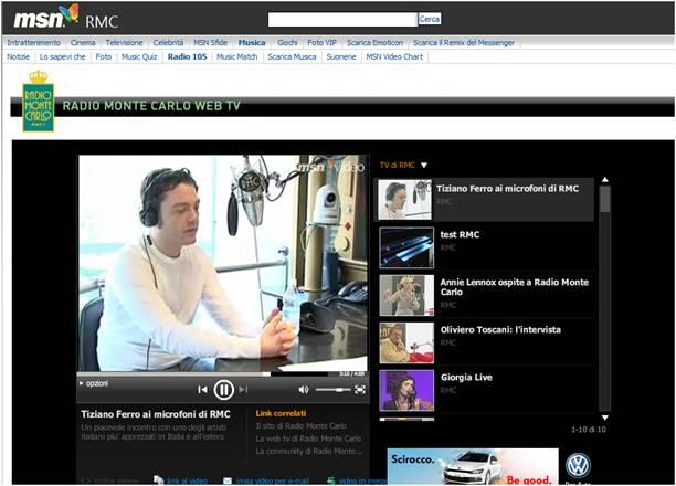 Radio20Montecarlo - MSN, Radio 105 e RMC: ancora una volta insieme per due nuovi canali video