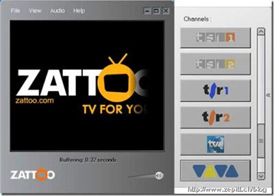 zattoo202 - Zattoo la tv sul pc a norma di legge. Presto potrebbe essere possibile vedere anche i programmi della Tv Svizzera nel rispetto del diritto d'autore
