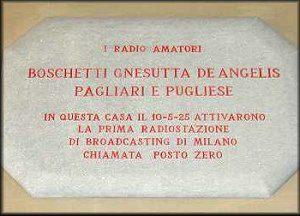 posto20zero - Storia della radiotelevisione privata italiana. Milano: 86 anni fa trasmetteva Radio Flori