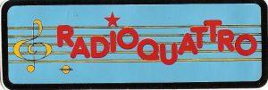 RADIO QUATTRO logo originario 300x101 - Storia della radiotelevisione italiana. Toscana, Pisa: da Radio Quattro a Radio Bruno