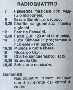 radio quattro 1981 244x300 - Storia della radiotelevisione italiana. Toscana, Pisa: da Radio Quattro a Radio Bruno