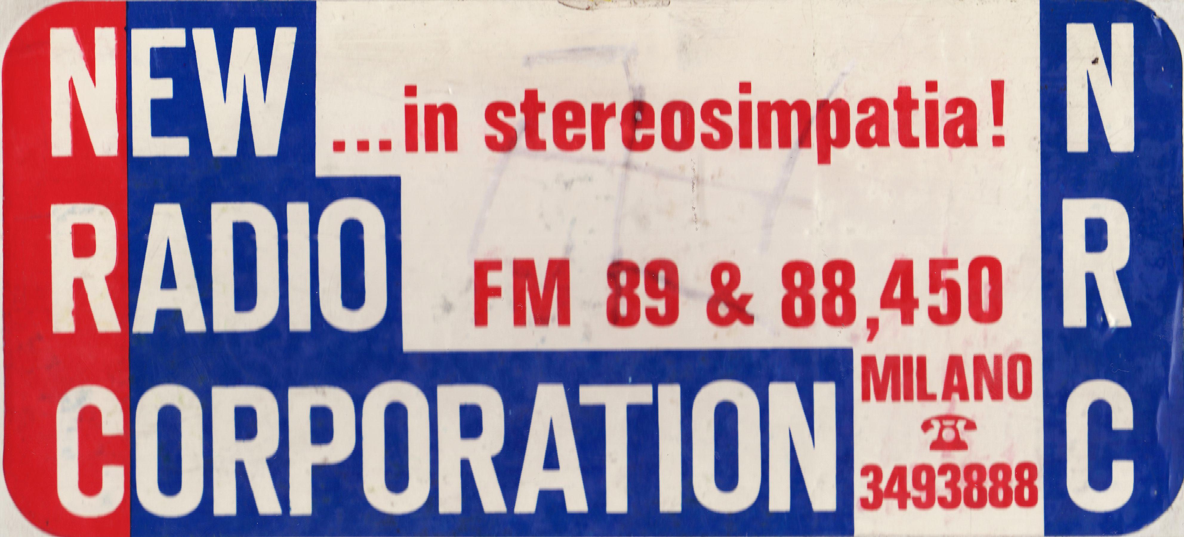 new radio corporation - Radio. Quando imperversava la moda degli adesivi ed avere quello dell'emittente preferita sul lunotto dell'auto era un must