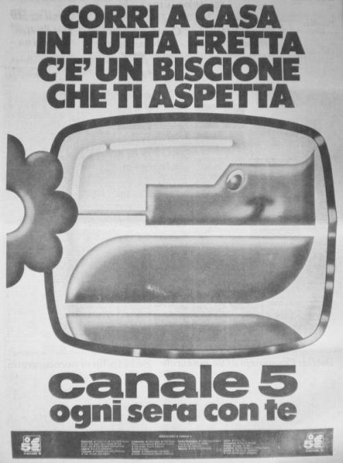 biscione che ti aspetta - Storia della radiotelevisione italiana. Canale 5: esordi del più importante network privato italiano