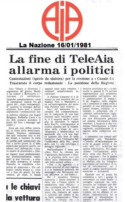 teleaia - Storia della radiotelevisione italiana. Canale 5: esordi del più importante network privato italiano