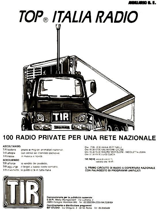 TOP20Italia20Radio - Storia della radiotelevisione italiana. Roma, Radio In: genesi di una delle prime syndication italiane
