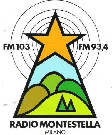 Radio20Montestella adesivo - Storia della radiotelevisione italiana. Radio Montestella: l'eterna numero due