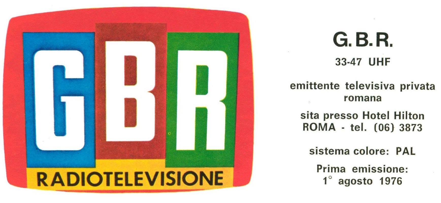 GBR Roma 1979 - Storia della radiotelevisione italiana. Roma, 1980: GBR Antenna Italia, prima rete nazionale interconnessa?