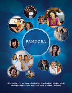 Pandora 232x300 - Radio digitale, USA: TuneIn vs Pandora. Guerra per la vendita di 888.000.000 impression. Cresce a dismisura ascolto online
