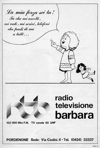 Radio Tele Barbara 3 - Storia della radiotelevisione italiana. Friuli, RTB Radiotelevisione Barbara: superstation ante litteram