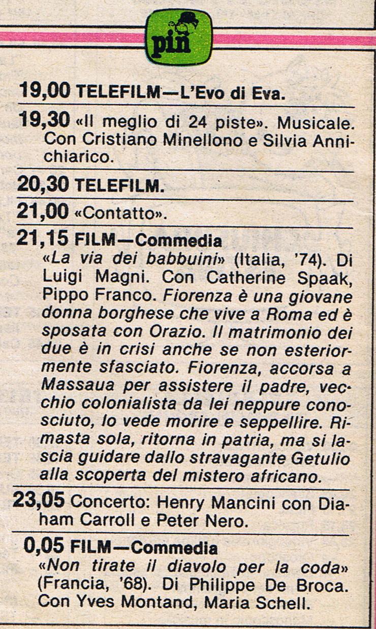 PRIMA RETE INDIPENDENTE 1 - Storia della radiotelevisione italiana. PIN: nascita e repentina morte di un cagnaccio senza denti