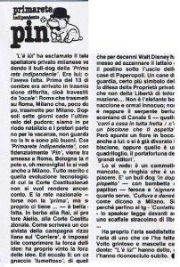 Primarete Indipendente MC 202x300 - Storia della radiotelevisione italiana. PIN: nascita e repentina morte di un cagnaccio senza denti