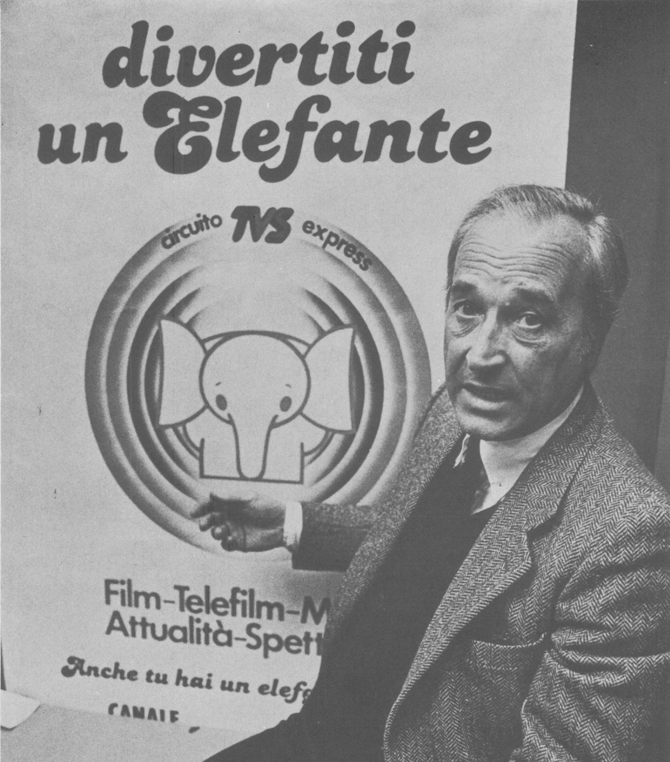 elefante tv 1 - Storia della radiotelevisione italiana: Canale 2000, la seconda rete nazionale dei Marcucci, network provider ante litteram