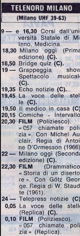telenord milano - Storia della radiotelevisione italiana: Canale 2000, la seconda rete nazionale dei Marcucci, network provider ante litteram