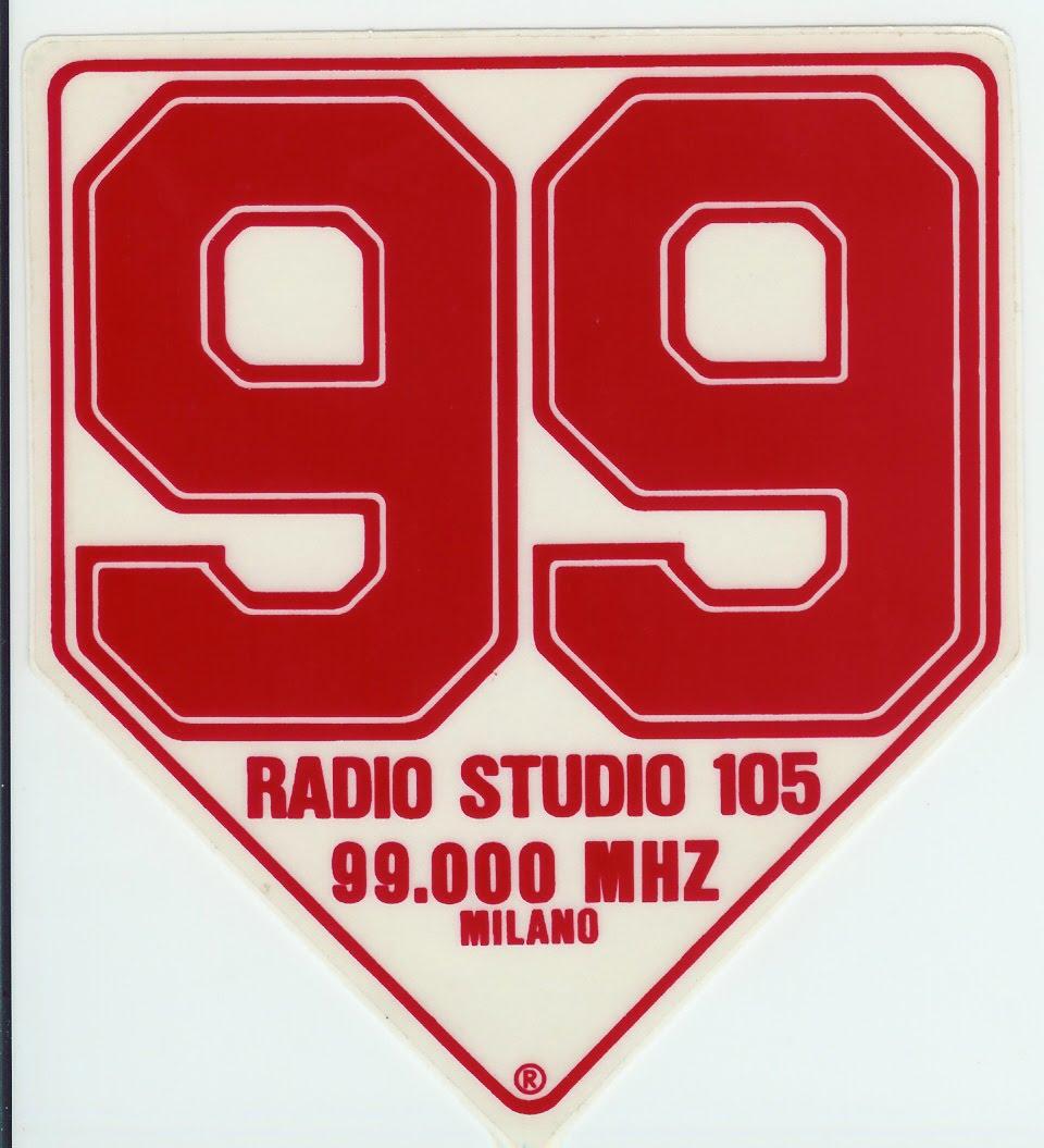 Radio Studio 105 adesivo - Storia della radiotelevisione italiana. 1988: la doccia fredda delle radio nazionali (prima parte)