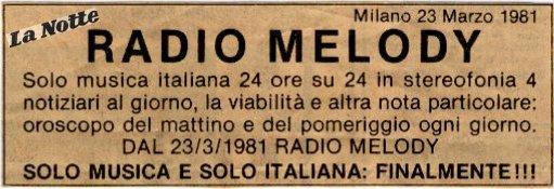 Radio Melody - Storia della Radiotelevisione italiana. Dicembre 1975: nasce Radio Supermilano, partecipata da Silvio Berlusconi