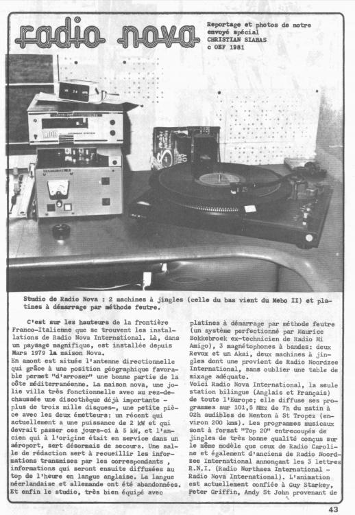 Radio Nova International 6 - Storia della radiotelevisione italiana. Radio K: da Sanremo per far crollare il monopolio radiofonico francese