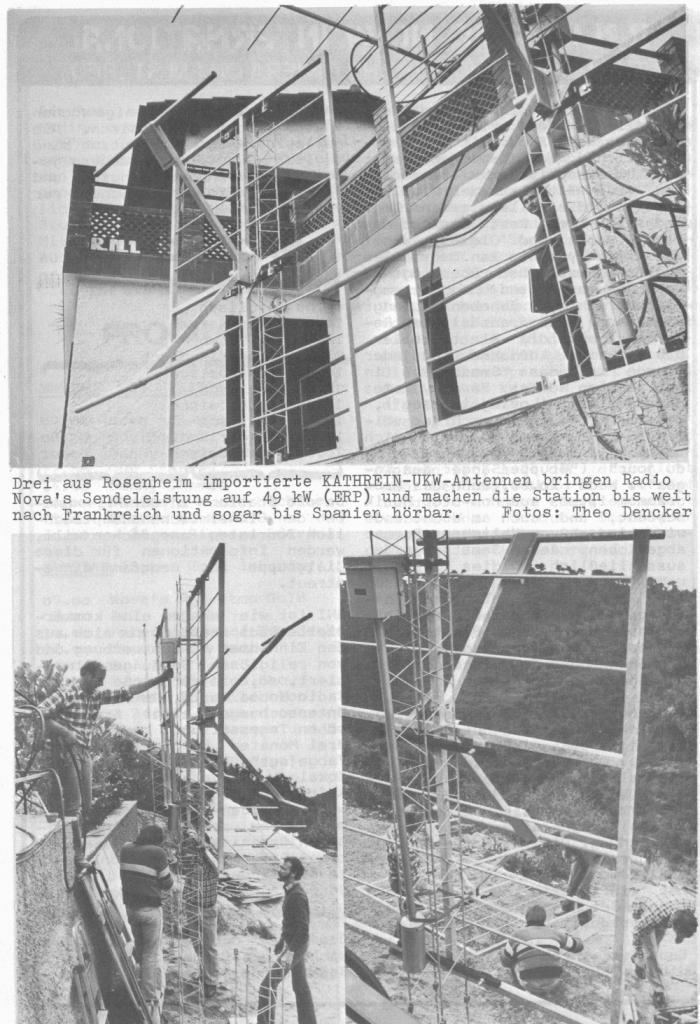 radio Nova International antenne 700x1024 - Storia della radiotelevisione italiana. Radio K: da Sanremo per far crollare il monopolio radiofonico francese