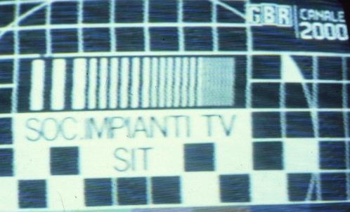 GBR20Canale20200020SIT20monoscopio - Storia della radiotelevisione italiana. 1977: prove tecniche per un Piano Nazionale di Assegnazione delle Frequenze. Che attendiamo ancora oggi...