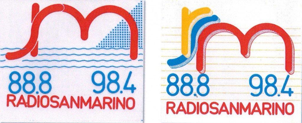Radio San Marino loghi - Storia della Radiotelevisione italiana. San Marino RTV da privata a pubblica