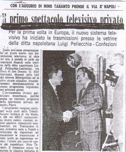 """TELEDIFFUSIONE ITALIANA NINO TARANTO 248x300 - Storia della radiotelevisione italiana. Il 26/04 si festeggiano i (controversi) 50 dall'avvio delle trasmissioni di Telenapoli, (forse) """"prima tv libera italiana"""""""