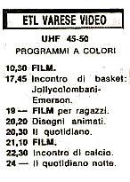 ETL Varese Video - Storia della radiotelevisione italiana. Lombardia: all'Università degli Studi dell'Insubria l'intero archivio della tv storica ETL Varese Video