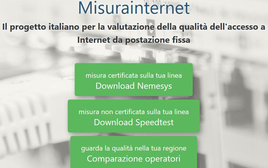 Misurainternet - Tlc. Agcom: Misurainternet, online la nuova versione