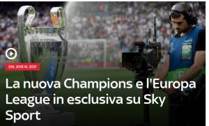 Sky Sport 300x181 - Diritti tv. Sky saccheggia l'Europa aggiudicandosi entrambe le competizioni Uefa