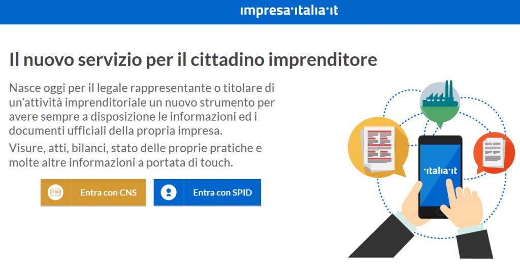 impresa italia it 1024x530 - Imprese. Il cassetto digitale delle Camere di Commercio è online ed è gratis
