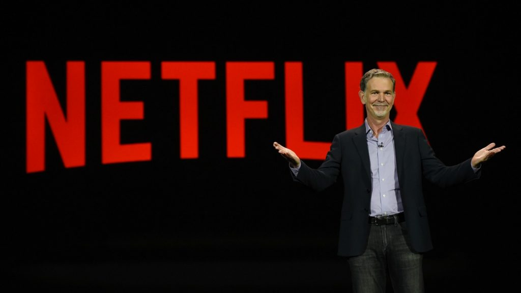 reed hastings netflix 1024x577 - Tv. Netflix supera i 100 milioni di abbonati; gli utenti esteri sorpassano quelli Usa