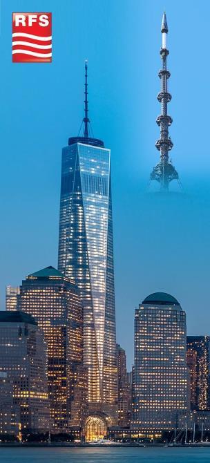 antenna UHF Manhattan - Tv e tlc. USA: RFS annuncia l'avvio delle trasmissioni in UHF dal World Trade Center di Manhattan con un nuovo sistema radiante in mpx