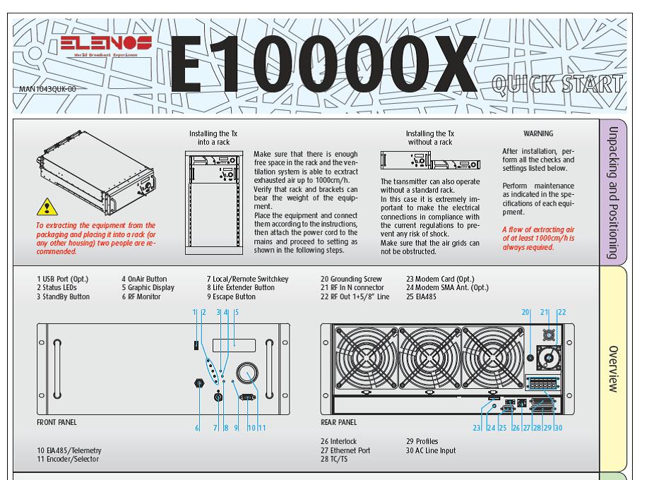 Elenos 10 kw FM - Radio 4.0. Il futuro ibrido passa da una macchina digitale per un uso analogico. Ecco il tx da 10 kW che rivoluziona l'FM