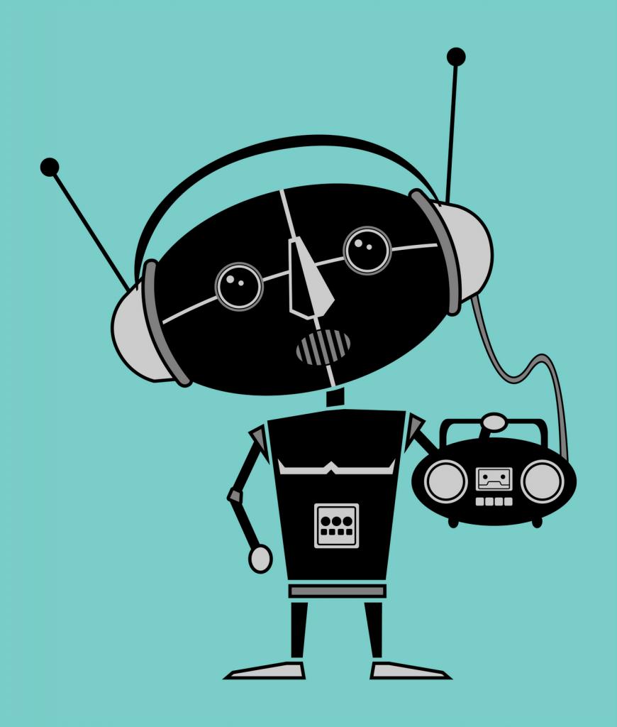 """Music Robot 870x1024 - Radio 4.0. Astorri: ok alla hybrid radio e alla Radio del futuro. Ma non confondiamo quella """"viva"""" con i robot musicali"""