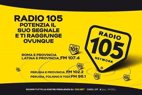 Radio 105 potenzia segnale - Radio. Mediaset potenzia 105 attraverso frequenze di Subasio. Ma potrebbe avere luogo anche contrario: rumors su arrivo a Milano