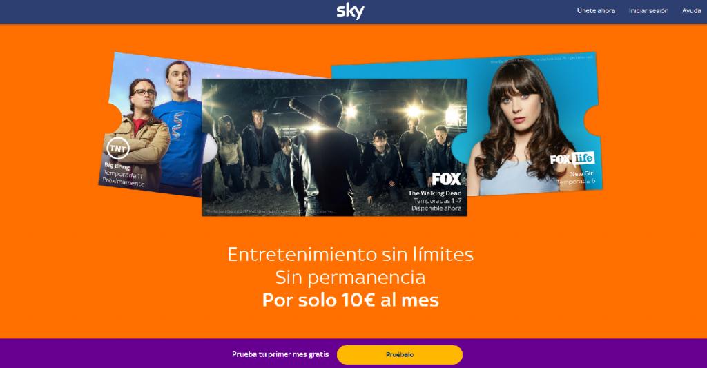 sky spagna 1024x533 - Tv. Sky lancia l'internet tv in abbonamento mensile anche in Spagna