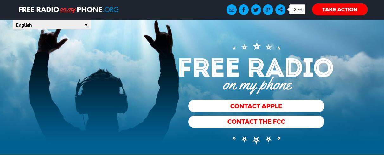 freeradioonmyphone - Radio. Chip FM, uno spot radio e una petizione per convincere Apple ad attivarli