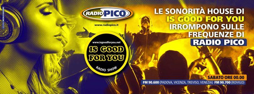 is good for you radio pico - Radio 4.0. Il contenuto multipiattaforma Is Good For You integra l'FM. Esempio di sinergie a portata di tutti gli editori