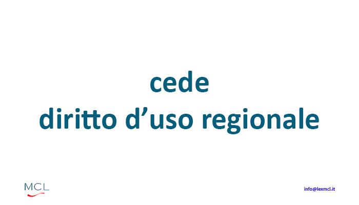 CEDE DIRITTO USO REGIONALE - C'azzecca