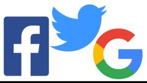 facebook twitter google 1 300x169 - Web. Social: terzo trimestre in crescita, ma c'è l'incognita Russiagate