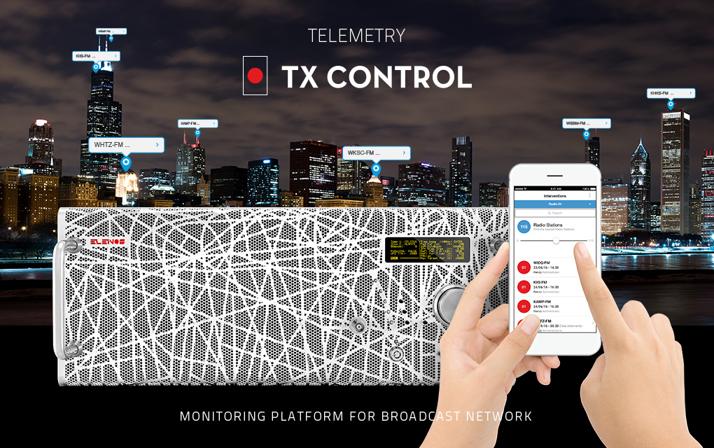 Elenos Telemetri tx Control 22HBG - Radio e Tv 4.0. Il gruppo Elenos scommette sull'Internet of things per controllare i trasmettitori. 6300 tx in linea