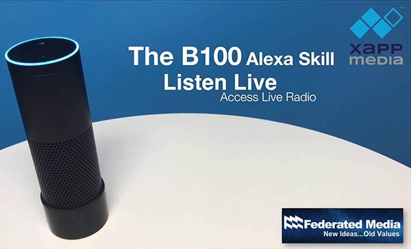 XAPPmedia Federated B100 Alexa Skill - Radio 4.0. Negli USA parte la campagna per sensibilizzare il pubblico radiofonico a gestire gli smart speaker con comandi vocali. Da noi urge su problematica aggregatori in connected car