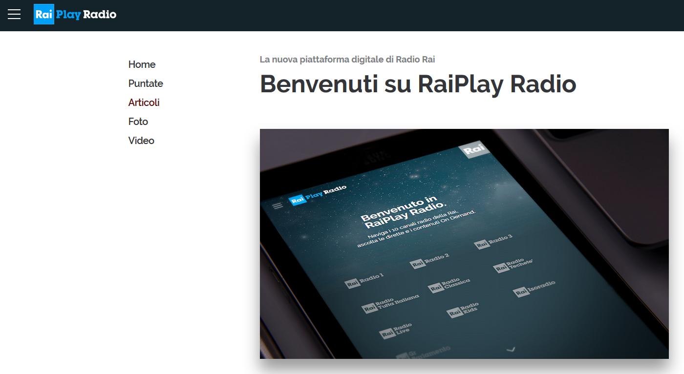 benvenuto in raiplay radio - Radio 4.0. Brand bouquet radio anche per RAI. Via a RaiPlay Radio per integrare la multipiattaforma