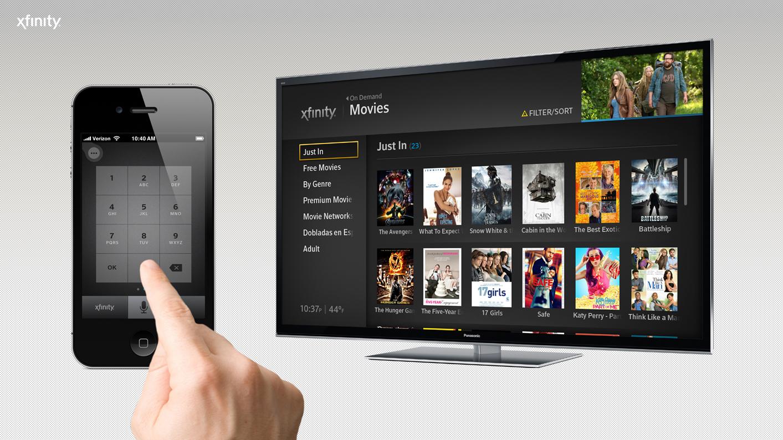 """comcast X1 remote - Tv. USA, Comcast continua a scommettere sul telecomando vocale: funzioni anche come motore di ricerca (""""dimmi qual è la canzone che sto ascoltando"""")"""