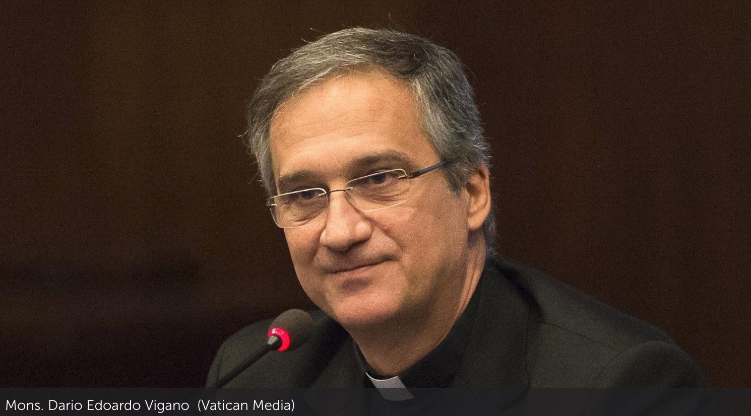 Foto Mons. Viganò - Media. Fake news, Viganò (Vaticano): saranno sconfitte solo quando sarà riportata al centro del dibattito la responsabilità della comunicazione