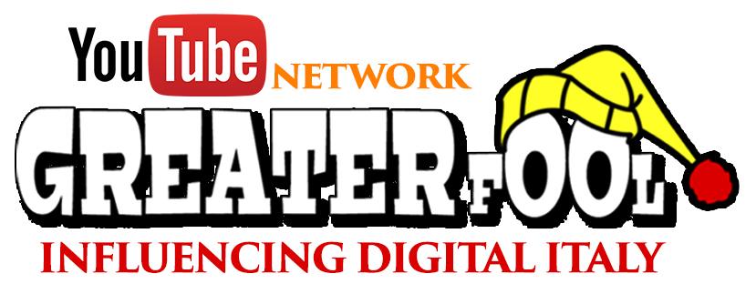 Logo Greater Fool - Social media. Greater Fool Media: 1 miliardo e mezzo di views, suddivise fra Facebook e Youtube nel 2017