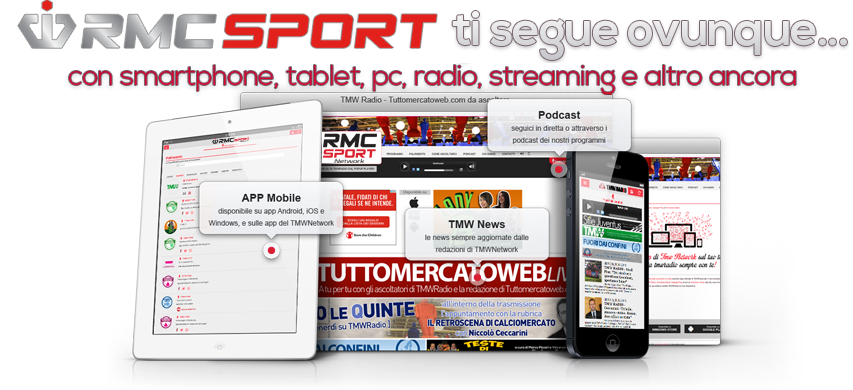 RMC Sport Network app 1 - Radio. Passaggio RMC Italia a Mediaset, giornalisti: non ci era stato detto nulla. Il futuro di RMC Sport Network e MC2