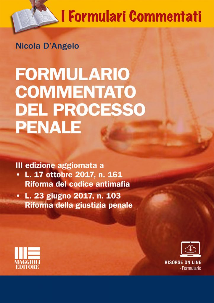 copertina formulario 723x1024 - Libri. Formulario commentato del processo penale