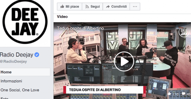Radio Deejay, facebook, ascolti IP